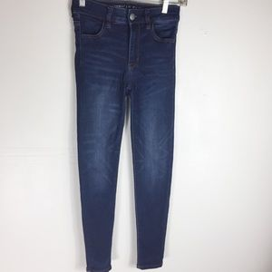 American Eagle Blue 0 Super Stretch Skinny Jeans